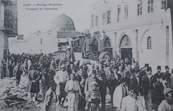 Aleppo Moslem marriage procession