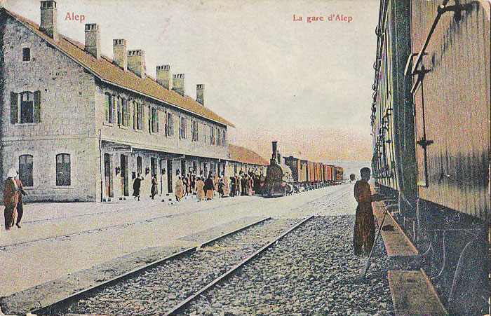 Railway station of Aleppo in 1911