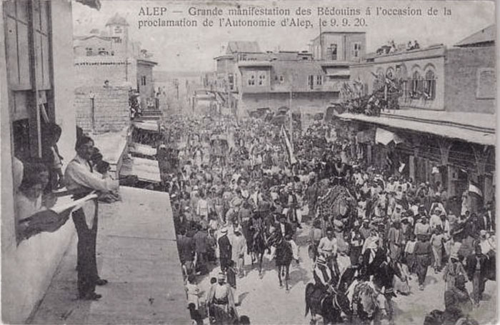 Proclamation of the autonomy of the province of Aleppo in 1920