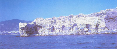 The Ottoman fortress called Genovese (south east from Foca) from the book Foca of Suzan Özyiğit