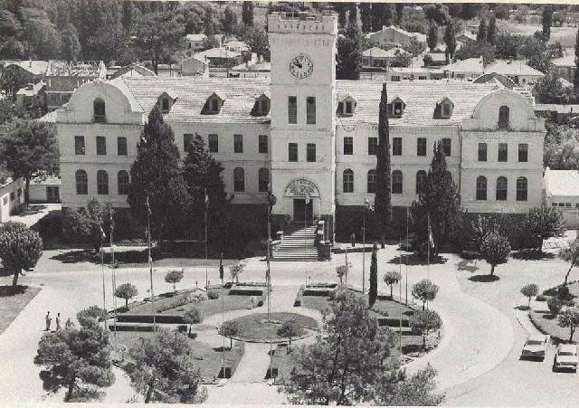 Campus buildings as viewed in 1962 when they were already in use as Nato facilities (since 1953 having earlier been a village institute)