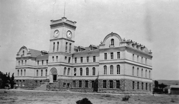 campus building in an earlier time