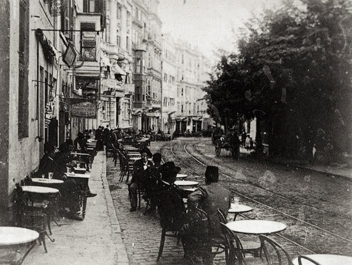 Postcard Views Of Beyoglu Pera