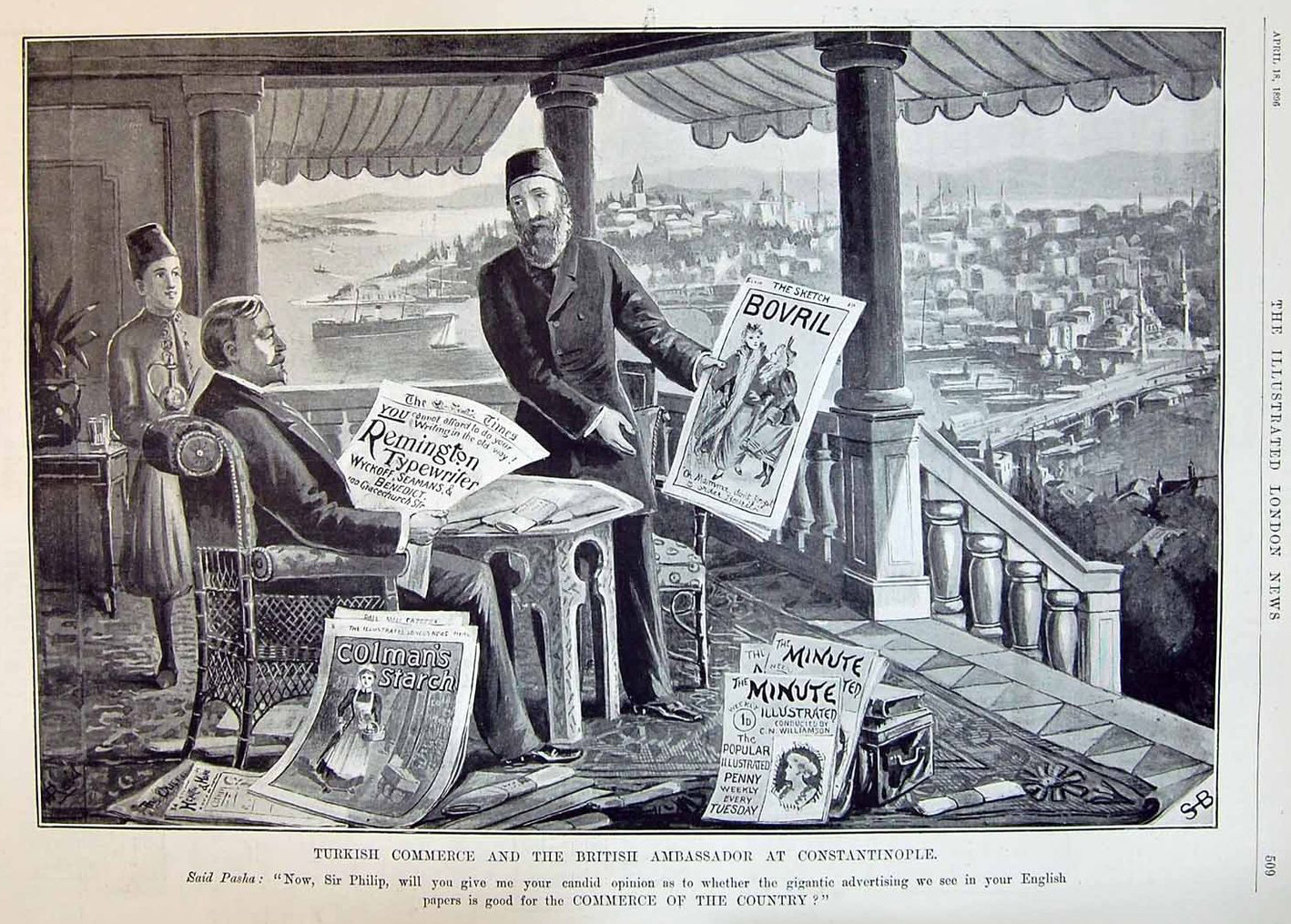 British Embassy Of Constantinople Depicted In The Press