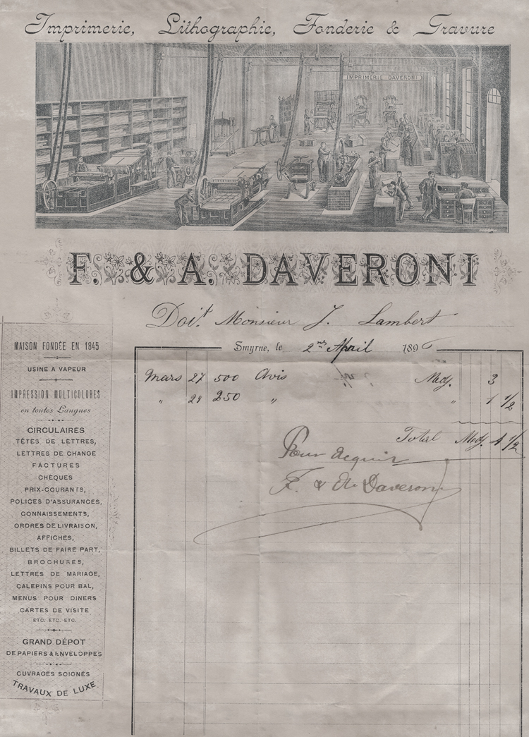 This Invoince From The Local Levantine Company Daveroni 1896 To A Mr J Lambert May Have Nothing Do With Church As It Appears Be For Boiler